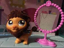 Littlest Pet Shop #809 Special Edition Brown Fuzzy Lion Authentic ❤️