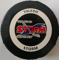 TOLEDO STORM ECHL HOCKEY OFFICIAL GAME PUCK RARE INGLASCO MADE IN CANADA