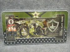 New Sealed Paul Jr. Designs Warrior License Plate Frame Part No. 804951