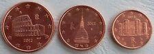 1+2+5 euro cent italia 2012 unz