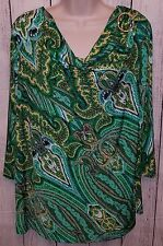 Womens Stretchy Blouse Top Shirt Size Large Susan Graver