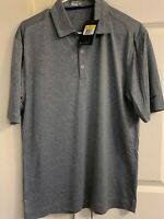 NWT Nike Golf Sport Dri-Fit Heather Polo Shirt - Grey Various Size $56