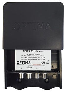 Optima TFDU UHF FM DAB Triplexer External Internal Combiner Splitter - 101234