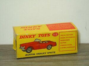 Original Empty Dinky Toys Box 112 - Austin Healey Sprite *50964