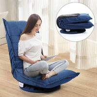 360 Degree Swivel Folding 5 Position Adjustable Floor Gaming Chair Lazy Sofa