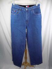 Tommy Hilfiger Women's Jeans Cotton Sz 8 30 x 32 Black Suede stripe