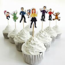 12x The Wiggles Cupcake Topper *HANDMADE* Deco Party Supplies Lolly Loot Bags