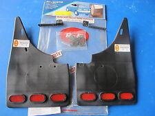 Jeu de bavettes arrière avec catadioptres R-B pour Peugeot 106 tous types