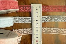 POLY LACE - 18mm Wide 2.7 Metre (3Yards) Lengths - 3 Colour Choices TH3D