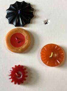 Bakelite Buttons 4 Multi color/Shape Buttons