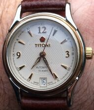 """GENTS Vintage """"TITONI"""" Of Switzerland 25 Jewels Automatic Watch With Date SUPERB"""