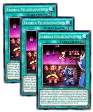 Set 3x FABBRICA PELLICCIASPAVENTO CROS-IT054 Comune in Italiano YUGIOH