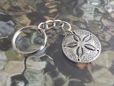 Lucky Piece Item OCEAN SEA JEWELRY 1 PEWTER SAND DOLLAR KEY CHAIN ALL NEW
