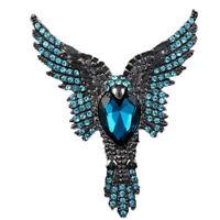 Fashion Women Alloy Crystal Rhinestone Inlaid Eagle Brooch Pin Jewelry Pop