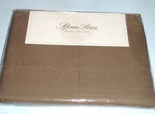 Sferra CELESTE Chestnut Brown Queen Sheet Set 400TC Egyptian Cotton Percale New