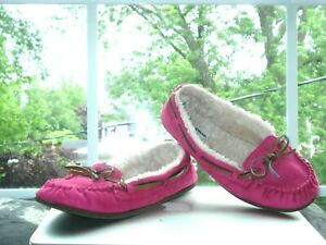 RALPH LAUREN POLO SHEEPSKIN AIR WALK Pnk PENNY LOAFERS MOCCASIN Shoes SLIPPERS 5