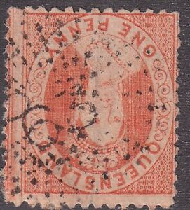 QLD numeral cancellation 63 of BOWEN [rated RR] Type 1d, 6.5mm