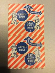 CRACKER JACK Collector's Item Two Conjoined Joined Sticker Prize ERROR RARE NEW