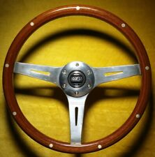 Sparco Sanremo Woodrim 355mm Wood 3 Spoke Steering Wheel + R-G Adjustable Boss.