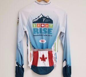 Rare Canadian Digestive Health Long Sleeve Cycling Jersey  Full Zipper