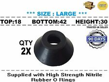UNIVERSAL LARGE TRACK ROD END BALL JOINT RUBBER DUST BOOT COVERS 2X