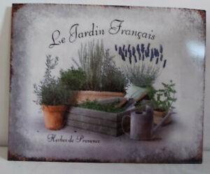 GARDENERS METAL WALL PLAQUE SIGN LAVENDER PLANTS HERBS FLOWERS & PLANTERS