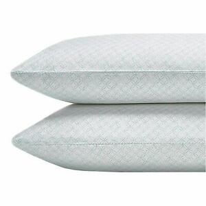 Sky Martina Collection Pima Cotton 2 Standard Pillowcases in White & Mint