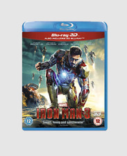 Iron Man 3 Blu-ray [2D+3D Region Free] Robert Downey Jr. Marvel Superhero Movie