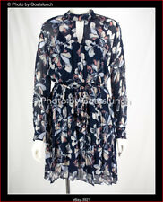 Witchery Navy Ruffled Dress Size 14 New With Out Tags Sold Out Style 801 937 732