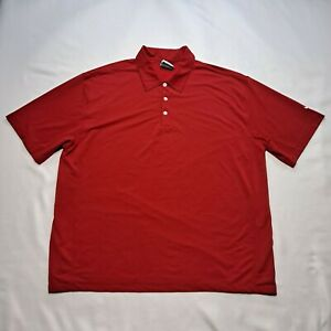 Nike Golf Tour Performance Dri-Fit Red Polo Shirt Short Sleeve Men's Size XXL