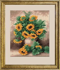 Sunflowers - Counted Cross Stitch Kit with Color Symbolic Scheme bst:488