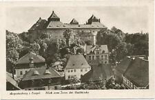 alte AK Augustusburg Erzgebirge 1956, Blick vom Turm der Stadtkirche