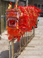 6m 4 person  DRAGON DANCE ORIGINAL Dragon Chinese Folk Costume size 3