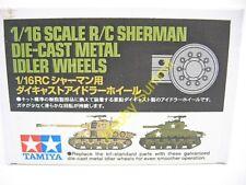 Tamiya 1/16 R/C Sherman DIECAST METAL IDLER WHEELS M4 M51 Super Tank 56014 56032