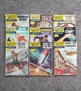 Lot of 9 Classic Illustrated Comic Books 1944 - 1967  Gilberton