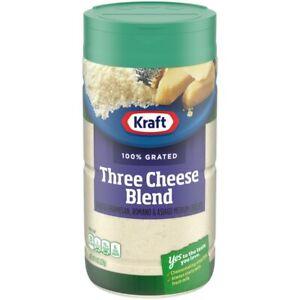 Kraft 100% Grated Three Cheese Blend Shaker (8 oz Bottle)