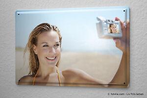 Ihr Foto Bild Grafik auf einem Blechschild Metllschild 20x30 cm personalisiert