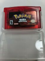 Pokemon Ruby CLEAN Nintendo GBA Gameboy Advance Brand New - Reproduction Copy