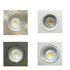 10 x GU10 Square Indoor Ceiling Recessed Downlight Spotlights Led Light Fitting