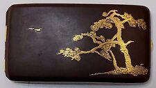 Japanese Komai Damascene Cigarette Case Meiji period c:1895