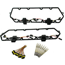 For Ford 94-97 Powerstroke 7.3L Diesel Glow Plug Set-Gaskets Harnesses 8 Plugs