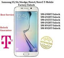 Samsung Note5/Note4/ S5/S6/S6Edge/S6EDGE Plus T-Mobile App Unlock Factory Unlock