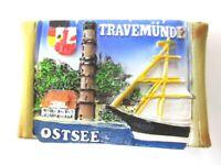 Travemünde Ostsee Magnet Poly Rolle 7 cm ,Souvenir Germany,Deutschland,Neu
