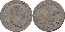 3 Gröscher 1783 a Prussia Berlino Friedrich II 1740-1786,Aquila#EA21