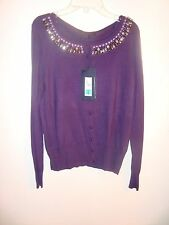 Marks and Spencer Women US medium Scoop Sweater Deep purple UK Size 14