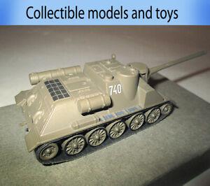 Tank model Su-100 USSR, casting 1:72 deagostini Russian tanks (metal+plastic)