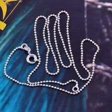 9K White Gold Filled Beaded Chain Necklace