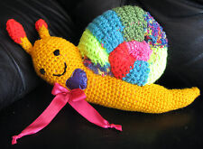 HANDMADE WOOL CROCHETED SNAIL SOFT DOLL ONE OF A KIND DIRECTLY FROM  ARTIST