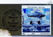 DH.83 FOX MOTH & SARO CLOUD Aircraft Stamp FDC (100 Years of Powered Flight)