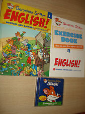CD+EXERCISE BOOK + LIBRO GERONIMO STILTON ENGLISH N°1 NUMBERS AND COLOURS NUMERI